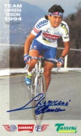 CARTE CYCLISME CLAUDIO CHIAPPUCCI  SIGNEE 1994 FORMAT 12 X 20 - Cyclisme