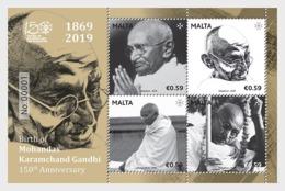 H01 Malta 2019 Birth Of Mohandas Karamchand Gandhi - 150th Anniversary MNH Postfrisch - Malte (Ordre De)