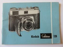 301 - Notice 1958 - Appareil Photo Kodak Rétina IB - Langue Allemand - Stuttgart Germany - Appareils Photo