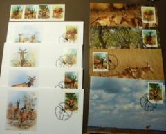 Mocambique 1991 Mi 1231-1234 WWF ANTELOPES Lichtensteins's Hartebeest Kuhantilope  Maxi Card FDC MNH ** #cover 4989 - W.W.F.