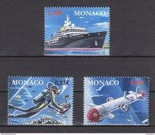 MONACO 2017  - SERIE Y.T. N° 3107 A 3109  ( LES EXPLORATIONS DE MONACO ) - 3 TP NEUFS ** - Monaco