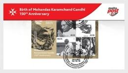 H01 Malta 2019 Birth Of Mohandas Karamchand Gandhi - 150th Anniversary Collectibles - Malta (Orden Von)