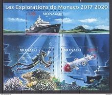 MONACO 2017 BLOC Y.T. N° 3107 A 3109 ( LES EXPLORATIONS DE MONACO )  NEUF** - Blocchi