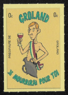 VIGNETTE** - PRECIPAUTE DE GROLAND - Commemorative Labels