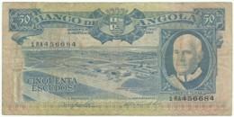 Angola - 50 Escudos - 10.06.1962 - Pick 93 - Série 1 RA - Américo Tomás - PORTUGAL - Angola