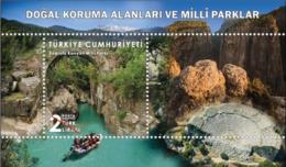 Turkey 2019, National Protection Areas, Köprülü Canyon, MNH Sheet - 1921-... Republiek