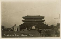 Korea Coree, SEOUL KEIJO, Namdaemun South Gate, Sungnyemun 1910s RPPC Postcard 2 - Korea, South