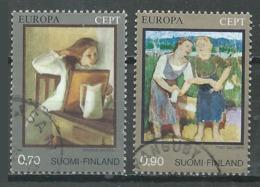 Finlande YT N°728/729 Europa 1975 Tableaux Oblitéré ° - Europa-CEPT