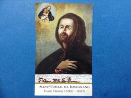 Santino Holy Card Sant Umile Da Bisignano Frate Minore - Santini