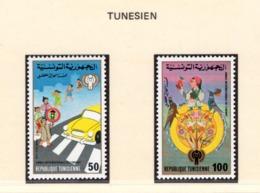 YEAR INTERN. OF CHILD - TUNISIA  - Mi. Nr. 959/960 - NH - (6532-20.) - Tunisia (1956-...)