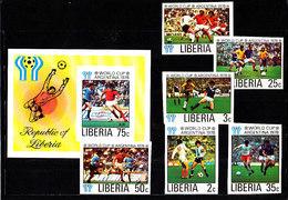 Soccer World Cup 1978 - LIBERIA - S/S+Set Imp. MNH** - Coupe Du Monde