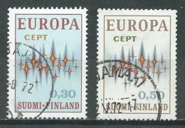 Finlande YT N°665/666 Europa 1972 Oblitéré ° - Europa-CEPT