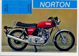 NORTON - MOTOCICLETA , MOTORCYCLE , MOTORRAD - CROMO / FOTOGRAFIA TROQUELADO AÑOS 70 , ED. DIDEC , RARO - Otros
