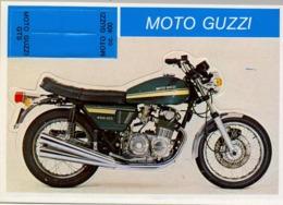 MOTO GUZZI - MOTOCICLETA , MOTORCYCLE , MOTORRAD - CROMO / FOTOGRAFIA TROQUELADO AÑOS 70 , ED. DIDEC , RARO - Andere