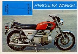 HERCULES WANKEL  - MOTOCICLETA , MOTORCYCLE , MOTORRAD - CROMO / FOTOGRAFIA TROQUELADO AÑOS 70 , ED. DIDEC , RARO - Andere