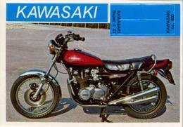 KAWASAKI  - MOTOCICLETA , MOTORCYCLE , MOTORRAD - CROMO / FOTOGRAFIA TROQUELADO AÑOS 70 , ED. DIDEC , RARO - Otros
