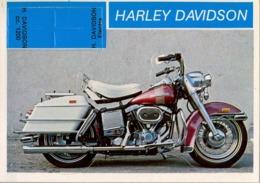 HARLEY DAVIDSON - MOTOCICLETA , MOTORCYCLE , MOTORRAD - CROMO / FOTOGRAFIA TROQUELADO AÑOS 70 , ED. DIDEC , RARO - Otros