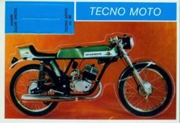 TECNO MOTO - MOTOCICLETA , MOTORCYCLE , MOTORRAD - CROMO / FOTOGRAFIA TROQUELADO AÑOS 70 , ED. DIDEC , RARO - Altri