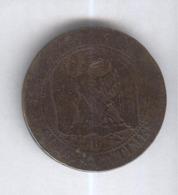 10 Centimes France 1853 D - France