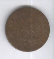 10 Centimes France 1857 B - France