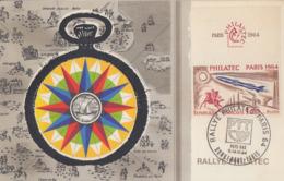Carte Maximum   FRANCE  RALLYE PHILATEC   Pays  Bas   1964 - Esposizioni Filateliche