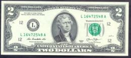 USA 2 Dollars 2013 L  - UNC # P- 538 < L - San Francisco CA > - Bilglietti Della Riserva Federale (1928-...)