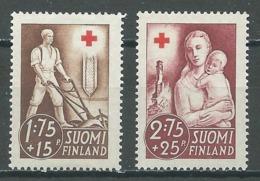 Finlande YT N°226-227 Croix-Rouge Reconstruction Neuf/charnière * - Nuevos