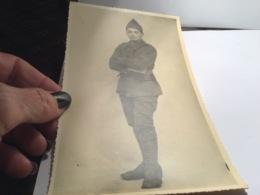 Grande Photo Garçon Militaire Jeune Garçon Habillé En Militaire - Anonyme Personen