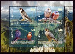 "NORTH MACEDONIA/Mazedonien EUROPA 2019 ""National Birds"" Minisheet For Booklet** - 2019"