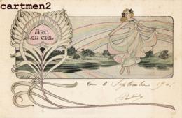 "ILLUSTRATEUR LEO LELEE "" ARC-EN-CIEL "" SURREALISME FEMME NU EROTISME ART NOUVEAU 1900 - Other Illustrators"