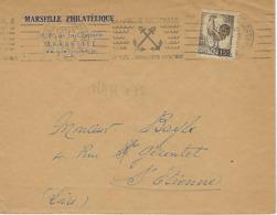 MARSEILLE Rue De La Corderie Machine R.B.V. 1953 DREYFUSS (MAR712) 1994 Cote 30F Marine Nationale Métier Mer - Marcophilie (Lettres)