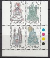 1998 Albania Albanie Legends Stories Complete Block Of 4 MNH - Albanië
