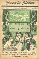 Vlaamsche Filmkens 333 Storm Op De Kust Dictus Ickx 1937 GROOT FORMAAT: 16x23,5cm Averbode's Jeugbibliotheek - Anciens