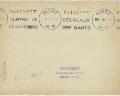 NIORT MachineKRAG. 1928 DREYFUSS (NIO101) 1994 Non Coté En PP PORT PAYE Peaux Gants Fourrures Vêtements DEVANT SEUL - Poststempel (Briefe)