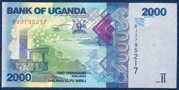 UGANDA 2000 SHILLINGS P-50c FAUNA FISH 2015 UNC - Uganda