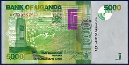 UGANDA 5000 SHILLINGS P-51d FAUNA BIRD 2015 UNC - Oeganda