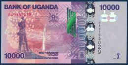 UGANDA 10000 SHILLINGS P-52d WATERFALL 2015 UNC - Uganda
