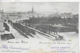 AK 0327  Wien - Franzensring Vom Museum Aus / Verlag Schmidt Um 1900 - Wien Mitte