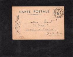 1940 - Cachet Poste Aux Armées Sur CARTE POSTALE Pour Aix Les Bains - Marcophilie (Lettres)