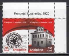 2011 Albania Albanie Lushnja Congress Complete Pair MNH - Albania