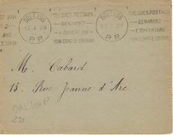 ORLEANS Machine KRAG. 1929 DREYFUSS (ORL106P) 1994 Cote 300F En PP PORT PAYE Chèques Postaux Compte Courant DEVANT SEUL - Poststempel (Briefe)