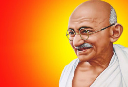 Ukraine 2018, India Famous Person, Mahatma Gandhi, Post Card - Ukraine