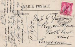 1911 Card 20r Stamp SG408? Republica O/p Lisboa Sq Cancel To UK French LL Card La Pallice-rochelle - 1910-... Republic