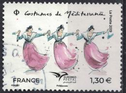 France 2019 Oblitéré Rond Used Euromed Postal Costumes De Méditerranée SU - Oblitérés