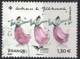 France 2019 Oblitéré Rond Used Euromed Postal Costumes De Méditerranée SU - Usati