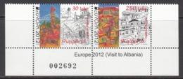 2012 Albania Albanie Europa Tourism  Complete Pair MNH - Albanie