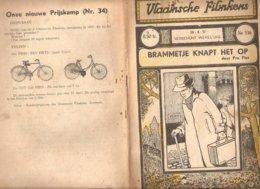 Vlaamsche Filmkens 336 Brammetje Knapt Het Op Pro Pius 1937 GROOT FORMAAT: 16x23,5cm Averbode's Jeugbibliotheek - Anciens
