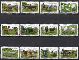 France - Adhésifs N° 1096 à 1107 Oblitérés - Série Complète - Agriculture - Chèvres - France