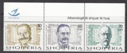 2012 Albania Albanie Linguists Language Complete Strip Of 3 MNH - Albanie
