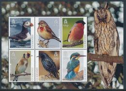 """GUERNSEY EUROPA 2019 """"National Birds"""" Souvenir Sheet Of 6v** - 2019"""